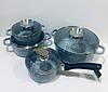 Набор кастрюль (казанов) с гранитным покрытием Edenberg (4 шт.), EB-8010