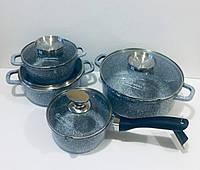 Набор кастрюль (казанов) с гранитным покрытием Edenberg (4 шт.), EB-8010, фото 1
