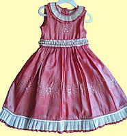 Нарядное коралловое платье для девочки р. 3, 7, фото 1
