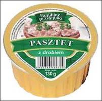 Куриный паштет Familijne Przysmaki Pasztet z drobiem 130г (Польша)