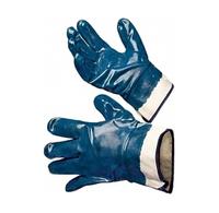 Перчатки нитриловые МБС синие манжет крага