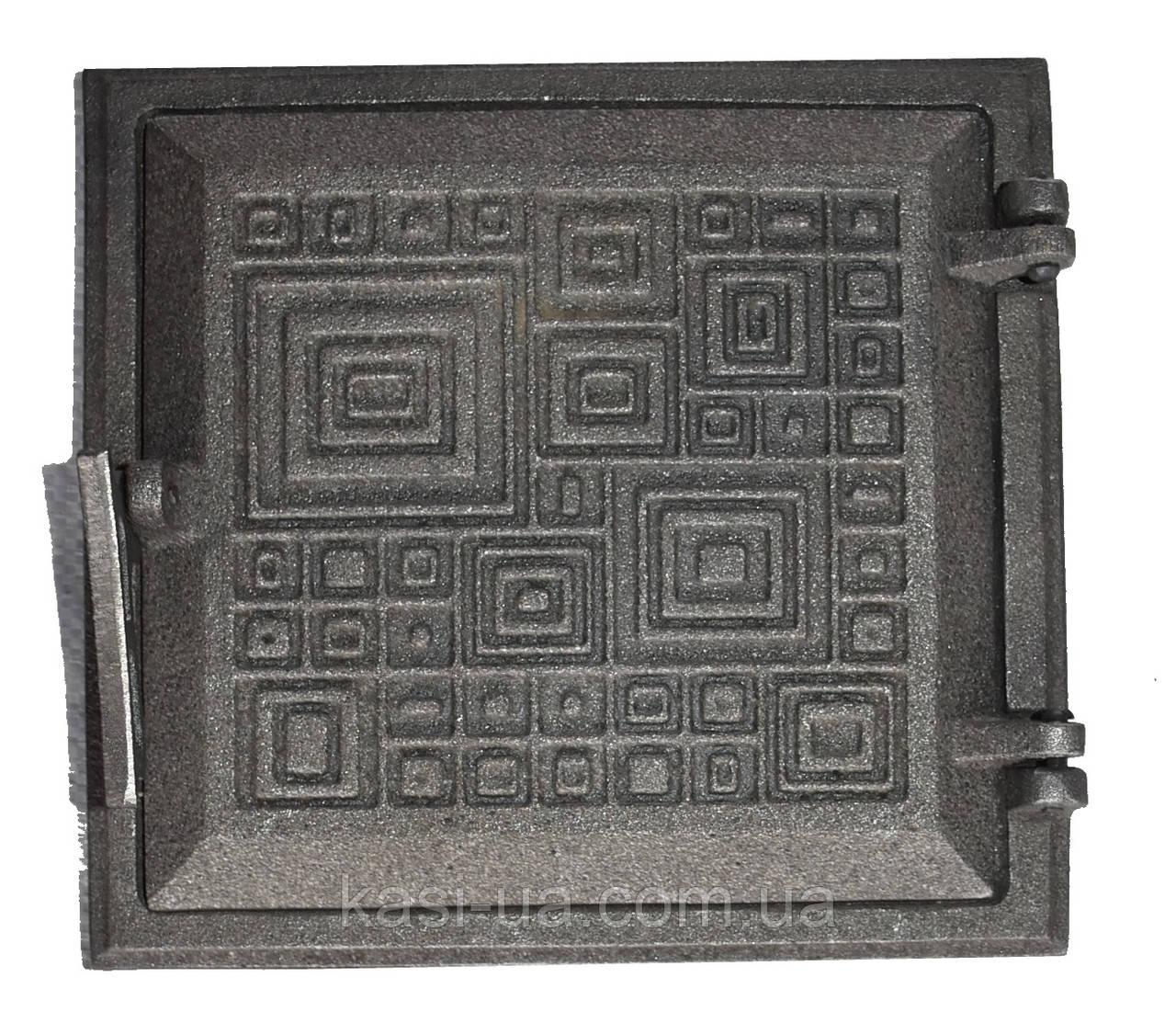 Дверка топочная на защелке ДТЗ-4 (250 х 265 мм.)