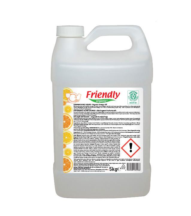 Органическое средство для мытья посуды Friendly Organic c апельсиновым маслом 5000 мл