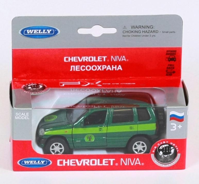 "Машина Welly, ""NIVA CHEVROLET CONVERSVATION"", металлическая, 42379FC"