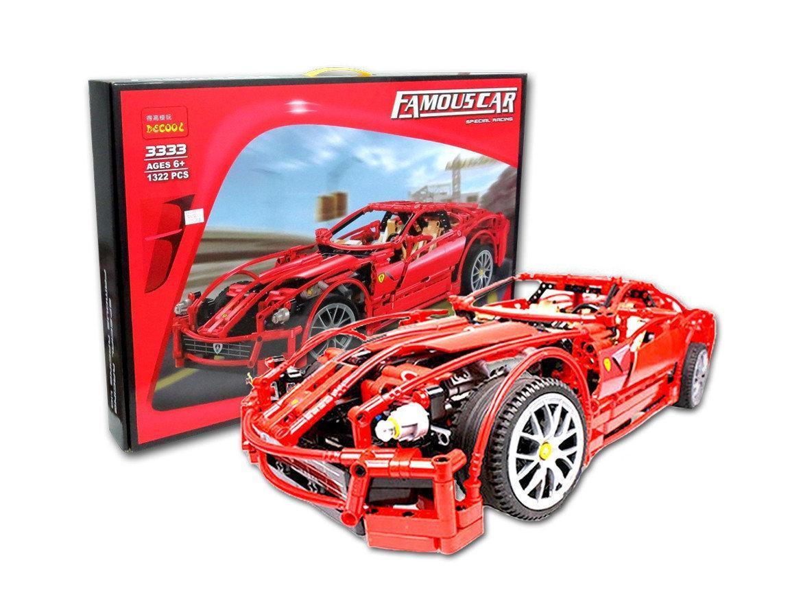 """Конструктор Decool 3333 (аналог Lego Technic 8145) """"Ferrari 599 GTB Fiorano """" 1322 детали"""