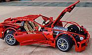 "Конструктор Decool 3333 (аналог Lego Technic 8145) ""Ferrari 599 GTB Fiorano "" 1322 детали, фото 4"