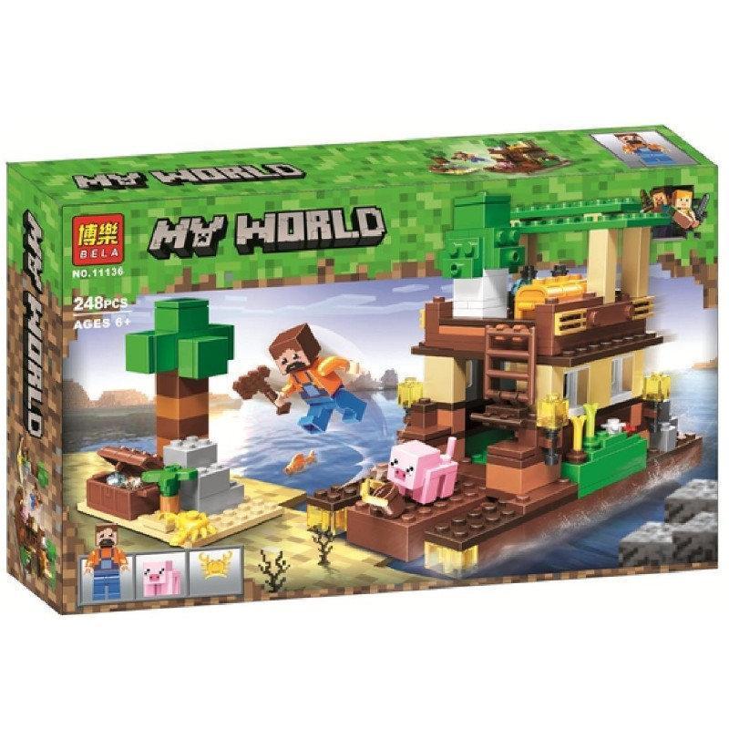 """Конструктор Bela 11136 """"Остров сокровищ"""" (аналог Lego Майнкрафт, Minecraft), 248 деталей"""