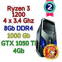 Игровой компьютер / ПК  ( AMD Ryzen 3 1200  4 x 3.1GHz \ A320 \ 8Gb DDR4 \ 1 Tb \ GTX 1050 Ti  \ 500W), фото 1
