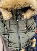 Детская зимняя куртка на овчине оптом на 2-3-4-5-6 лет, фото 1