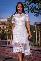 Вечернее длинное белое платье (S, M)