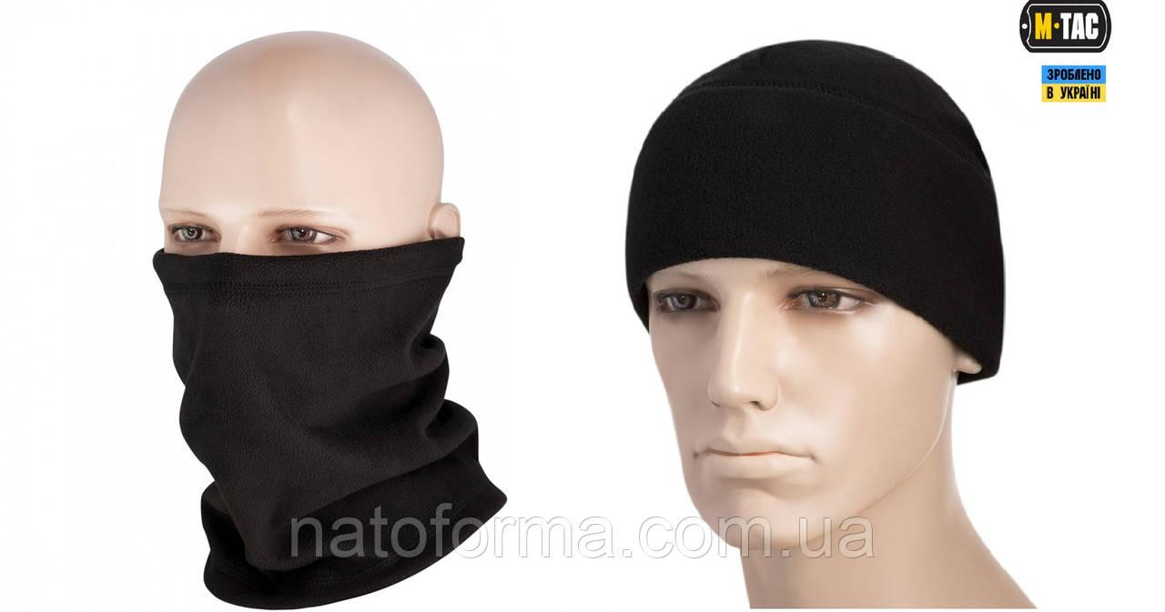 Комплект бафф + шапка, M-Tac, черный