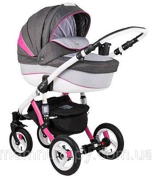 Детская универсальная коляска 2 в 1 Adamex Gloria Rainbow Pink (адамекс глория)