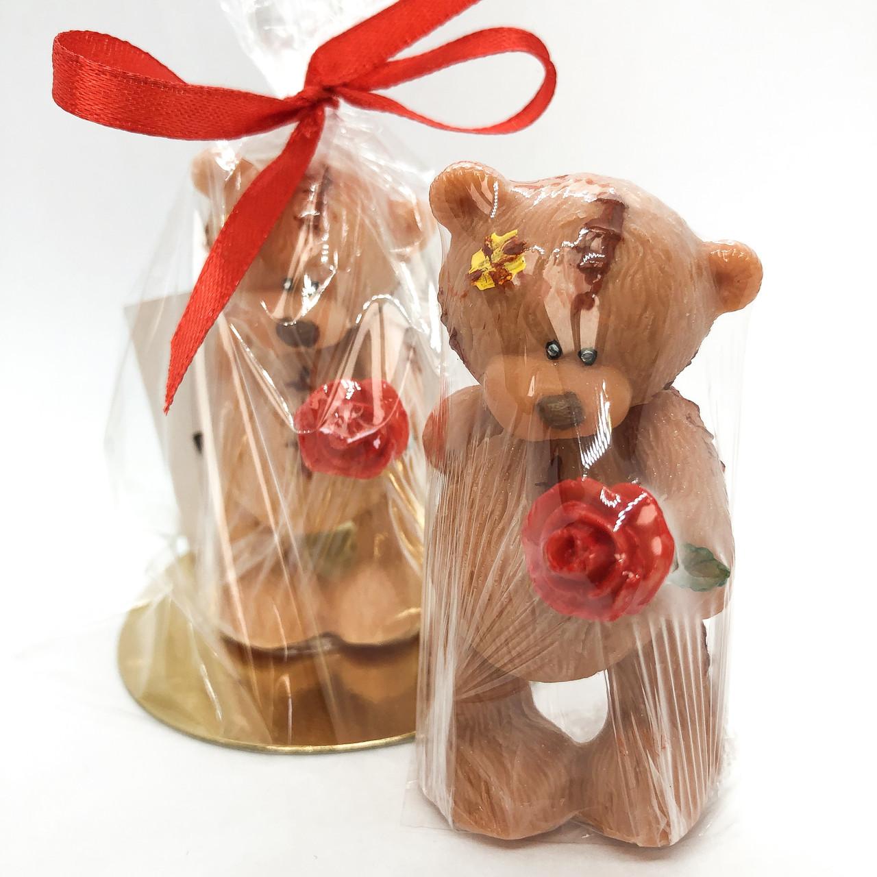 Мыло ручной работы  Тедди с розой 55 г Naturalina