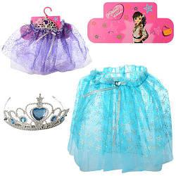 Набор аксессуаров, корона, юбка, 2 цвета, 802-17
