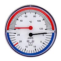 Термогидрометр Afriso ТН80, 20-120°С, 60 м. водяного столба, аксиальный (Афризо 63316)