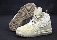 Кроссовки женские зимние Nike Lunar Force 1 Duckboot '17 31380 бежевые, фото 1