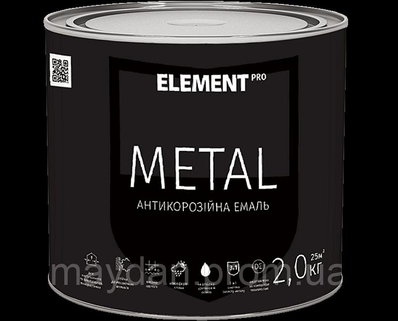 Антикоррозийная эмаль METAL, черная