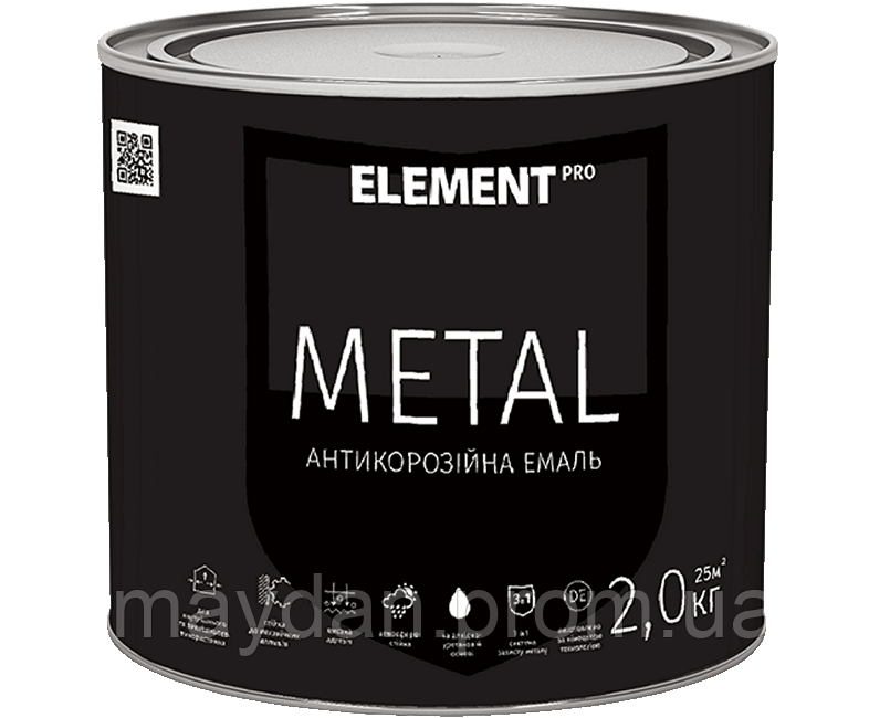 Антикоррозийная эмаль METAL, желтая