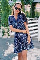 Летнее короткое платье на запах (S/M)
