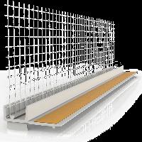 Профиль примыкающий со стеклосеткой для оконных и дверных блоков