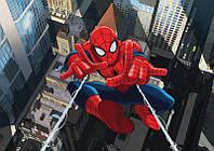 Фотообои флизелиновые3D детские для мальчиков Марвел 416х254 см Человек паук в полете (265CN)
