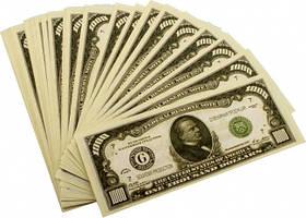 """Сувенірні гроші """"1000 доларів"""", Сувенирные деньги """"1000 долларов"""""""