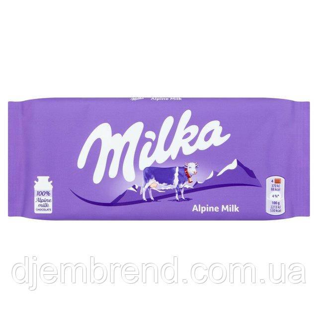 Шоколад Milka Alpine Milk 100 г. Швейцария
