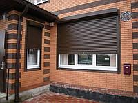 Защитные роллеты / рольставни Алютех на фасад 2000х1600
