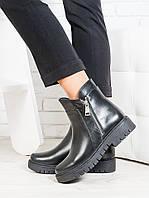 Ботинки Combo черная кожа 6700-28