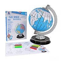 DIY 3D головоломка глобус модель рисования пазлы теллурион подбор цветов модели земли континенты обучения доска - 1TopShop