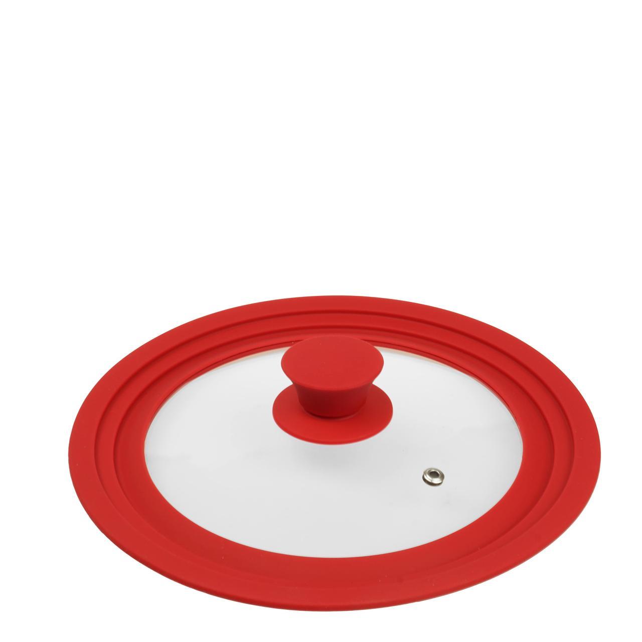 Крышка с силиконовым ободком (красный)