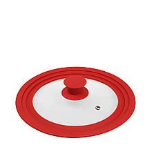 Кришка з силіконовим обідком (червоний)