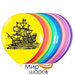 """Шарики Стандарт 12"""", """"Пираты"""", 50шт./упак., """"Мир шаров"""", 200-0030"""