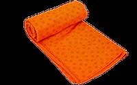 Йога-полотенце коврик для йоги 1,83мx0,63 м микрофибра силикон оранжевый (FI-4938-orange)