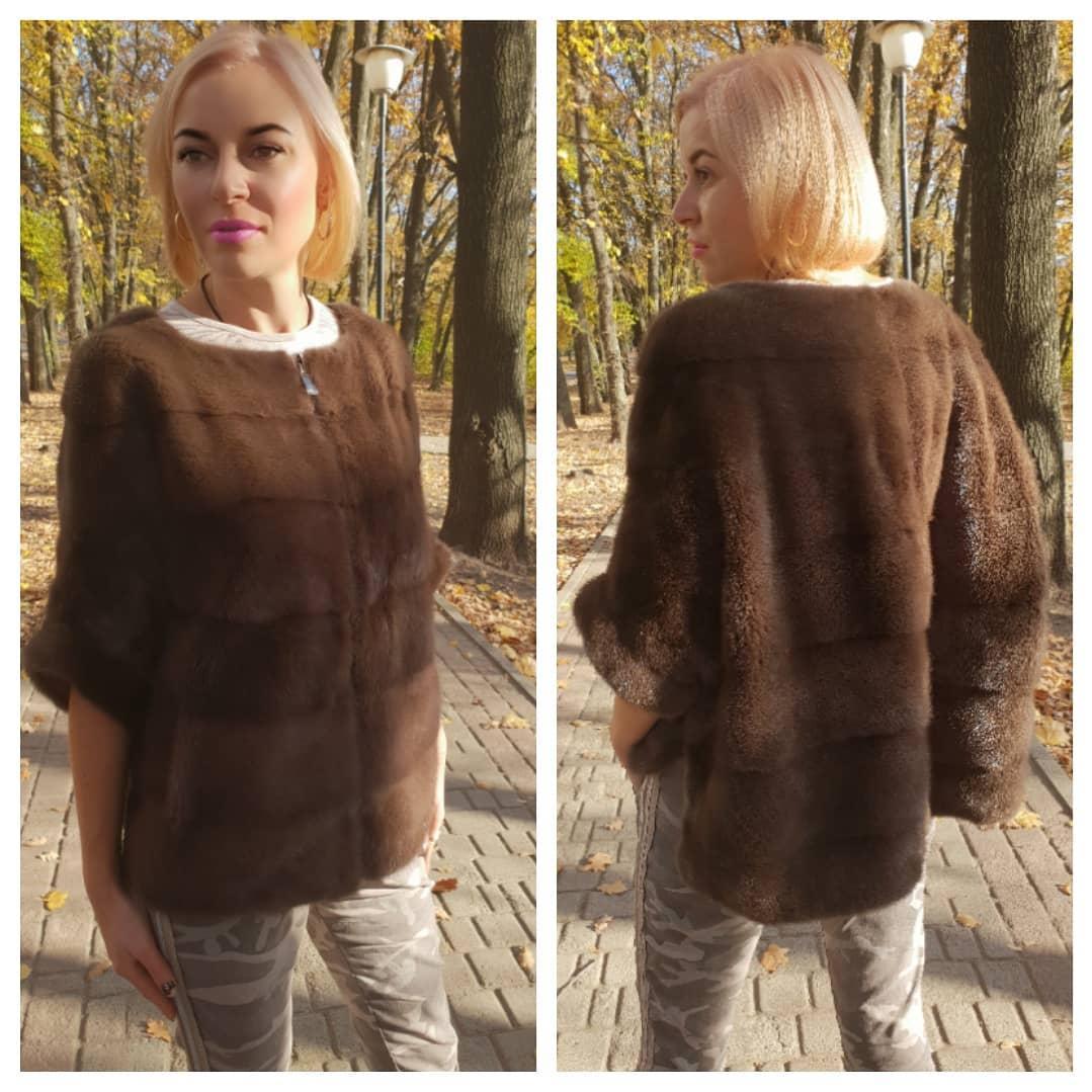 Стильный норковый свитер на молнии