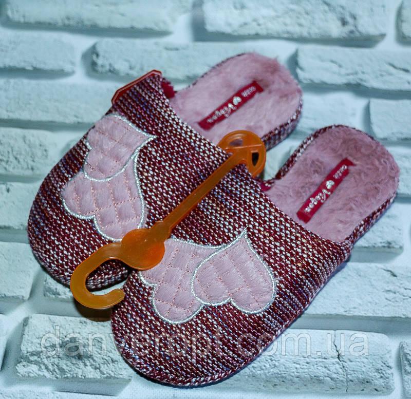 Тапочки домашние женские модные размер 36-41 купить оптом со склада 7км Одесса