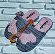 Тапочки домашние женские модные размер 36-41 купить оптом со склада 7км Одесса, фото 3