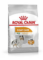 Royal Canin (Роял Канин) Mini Coat Care -корм для собак с тусклой и сухой шерстью, 1кг