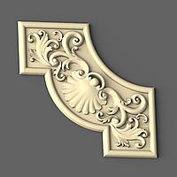 Угловой декор 20 деревянный - 110х110 мм