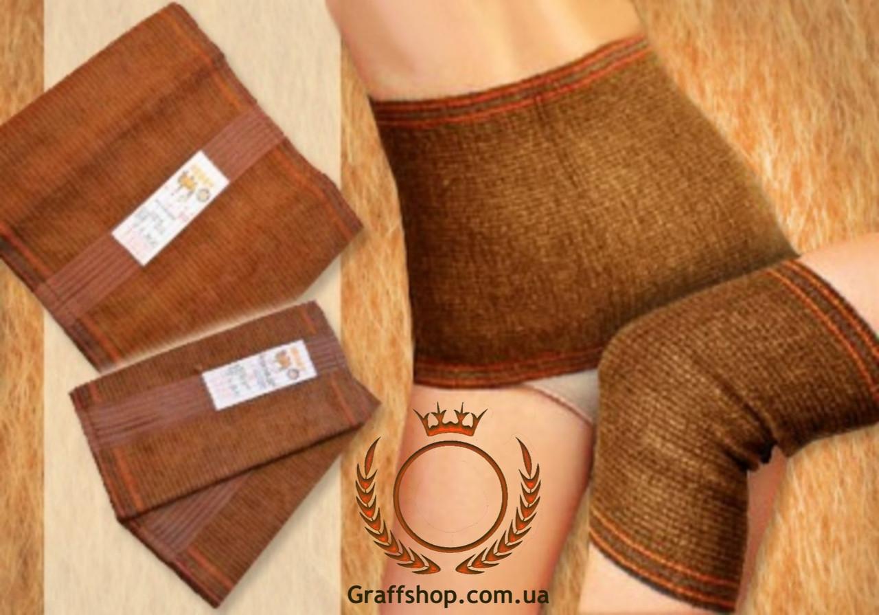 Комплект согревающий пояс из верблюжьей шерсти и наколенники Nebat
