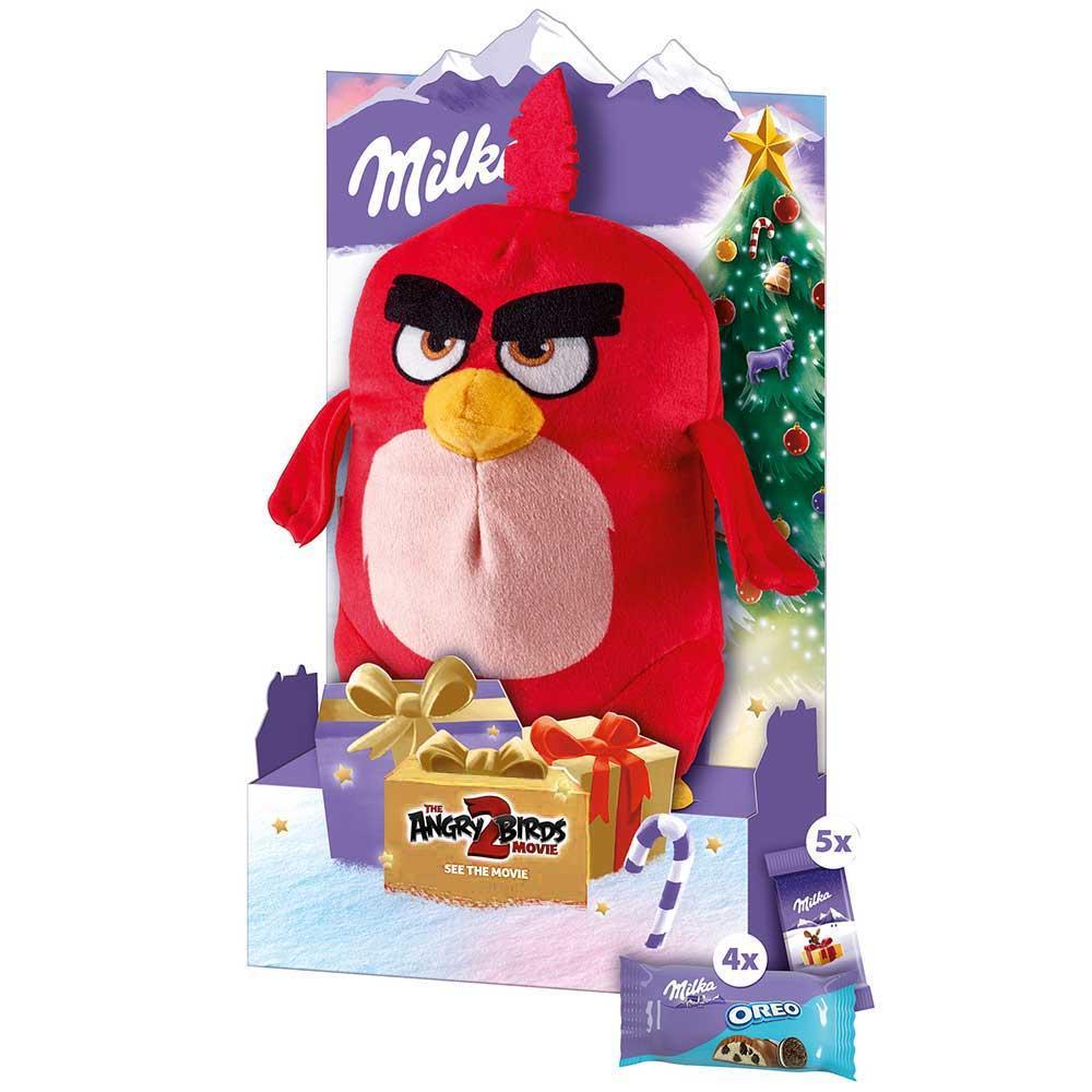 Подарочный набор шоколада Milka + игрушка Angry Birds RED