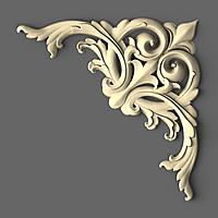 Угловой декор 21 деревянный - 150х150 мм, фото 1
