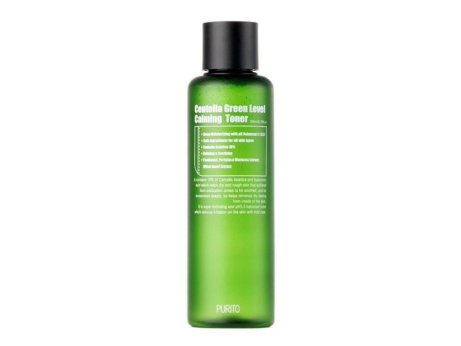 Бесспиртовый успокаивающий тонер для лица с центеллой азиатской Purito Centella Green Level Calming Toner 200 мл (8809563100163)