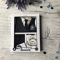 Крестильный костюм, набор на выписку для мальчика Miniworld 9. Размер 62 см