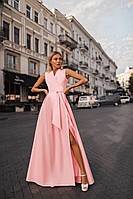 Красивое светлое длинное платье с запахом (L/XL)