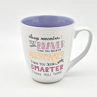 "Чашка ""Braver Stronger Smarter"" 550мл"