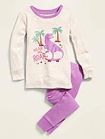 Детская трикотажная пижама Динозавр Олд Неви для девочки