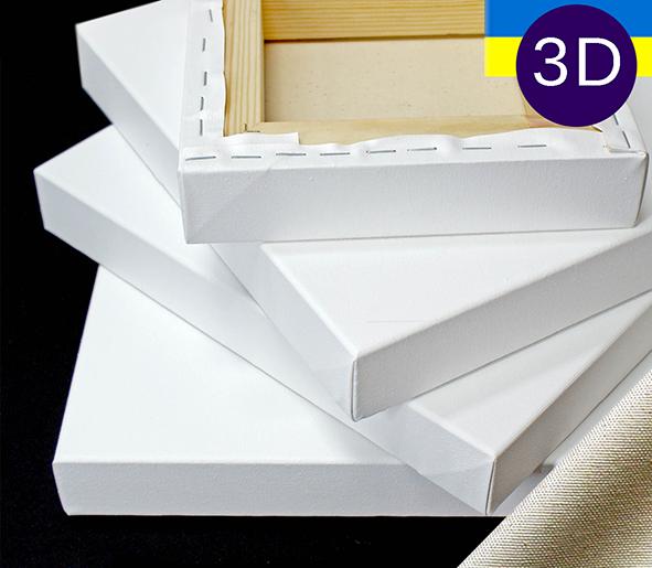 Холст на подрамнике Factura Gallery3D 20х20 см Украинский хлопок 320 гр.кв.м. мелкое зерно белый, фото 1