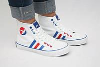 Высокие белые кеды Adidas  , фото 1
