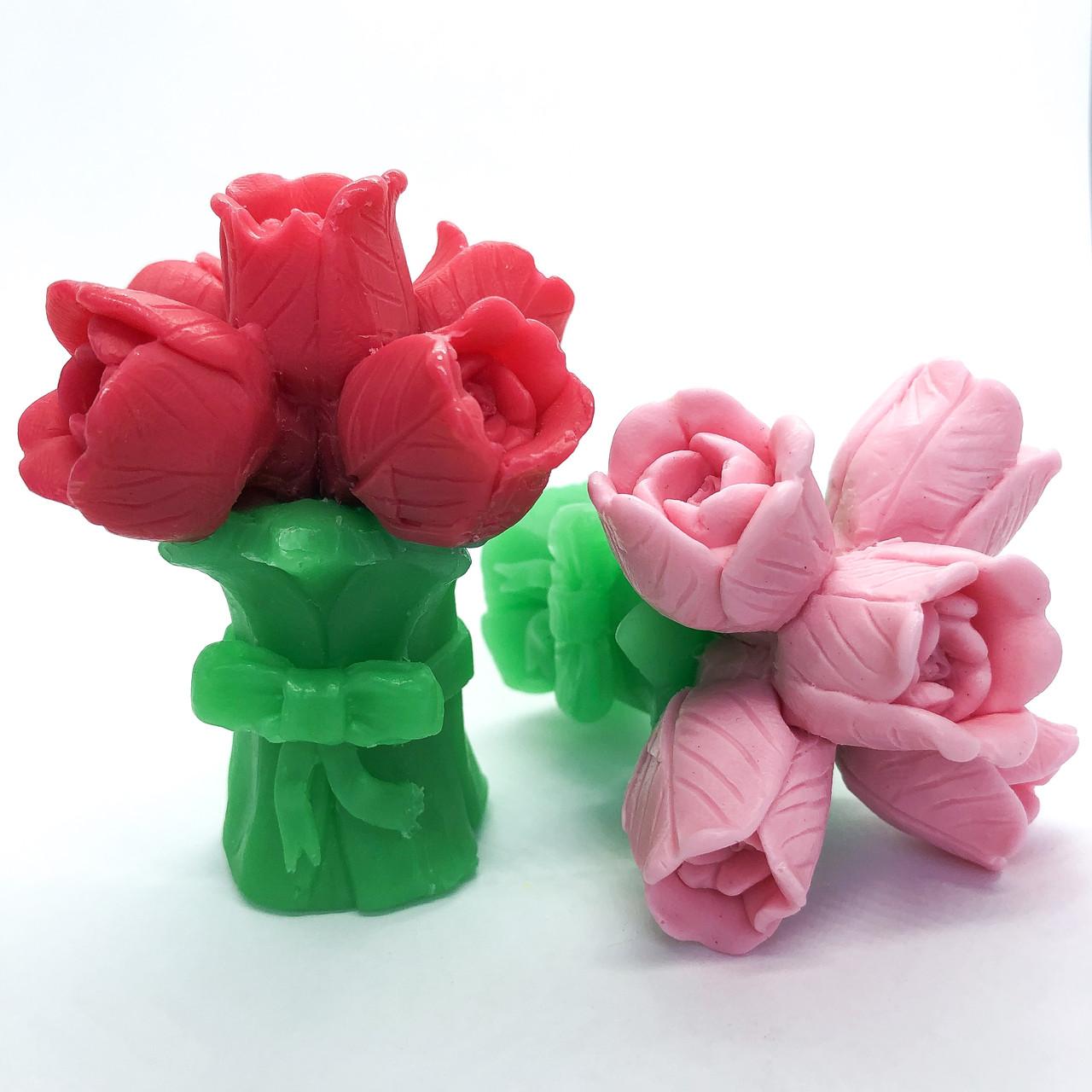 Мыло ручной работы  Букет тюльпанов 75 г №1 Naturalina